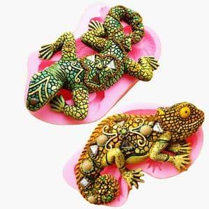 3D Lizard Silicone Concrete Mold-1