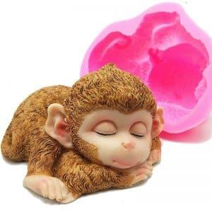 Silicone Concrete 3D Monkey Mold - 1